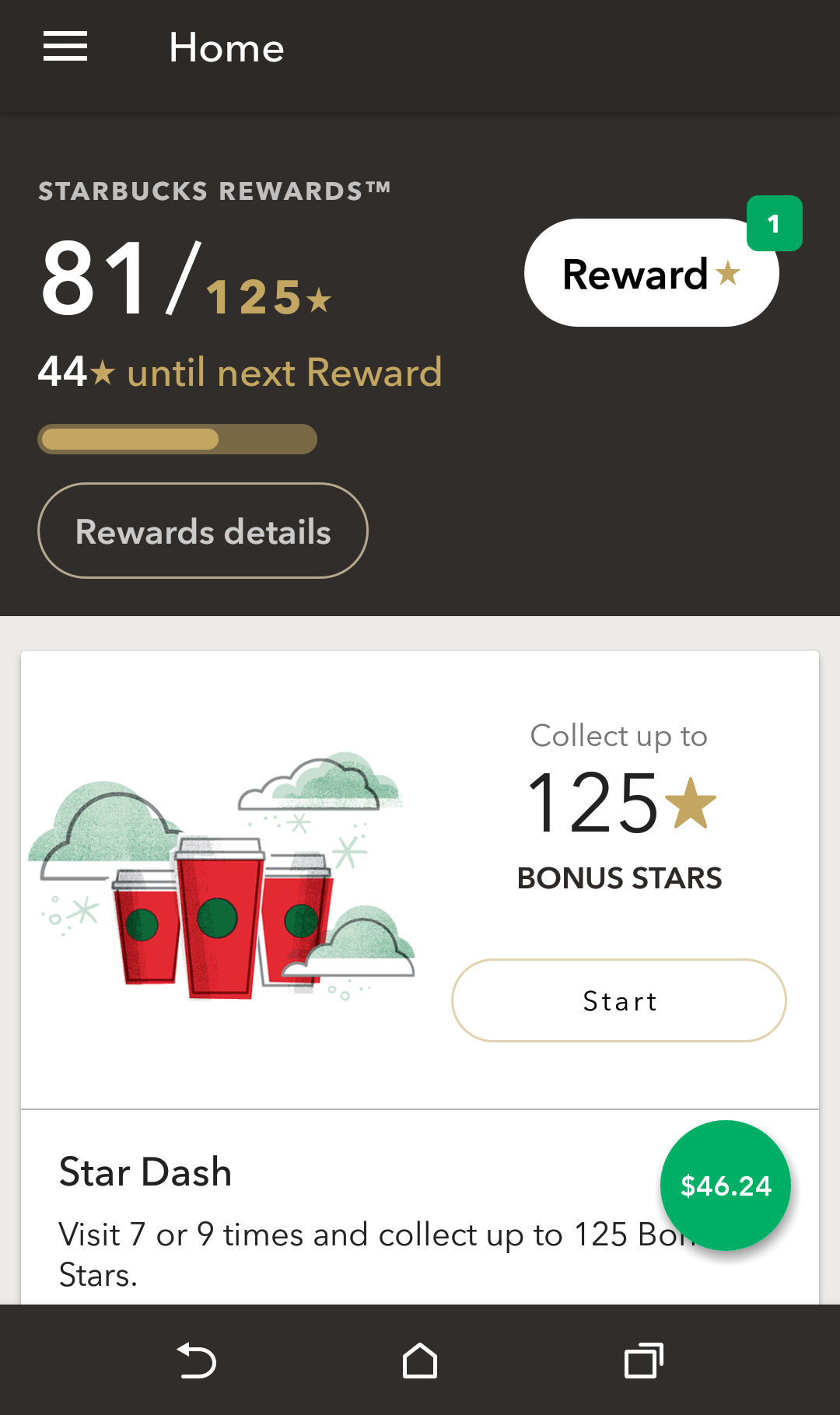 how to get rewards on starbucks app