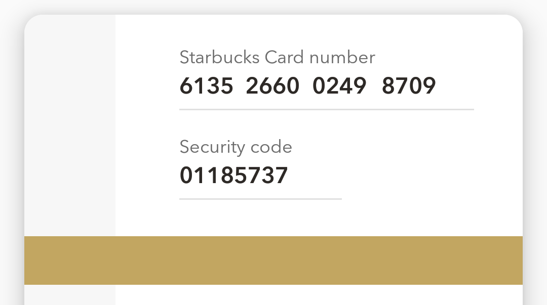 add starbucks gift card?