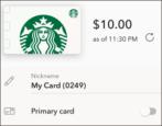 transfer balance starbucks gift cards