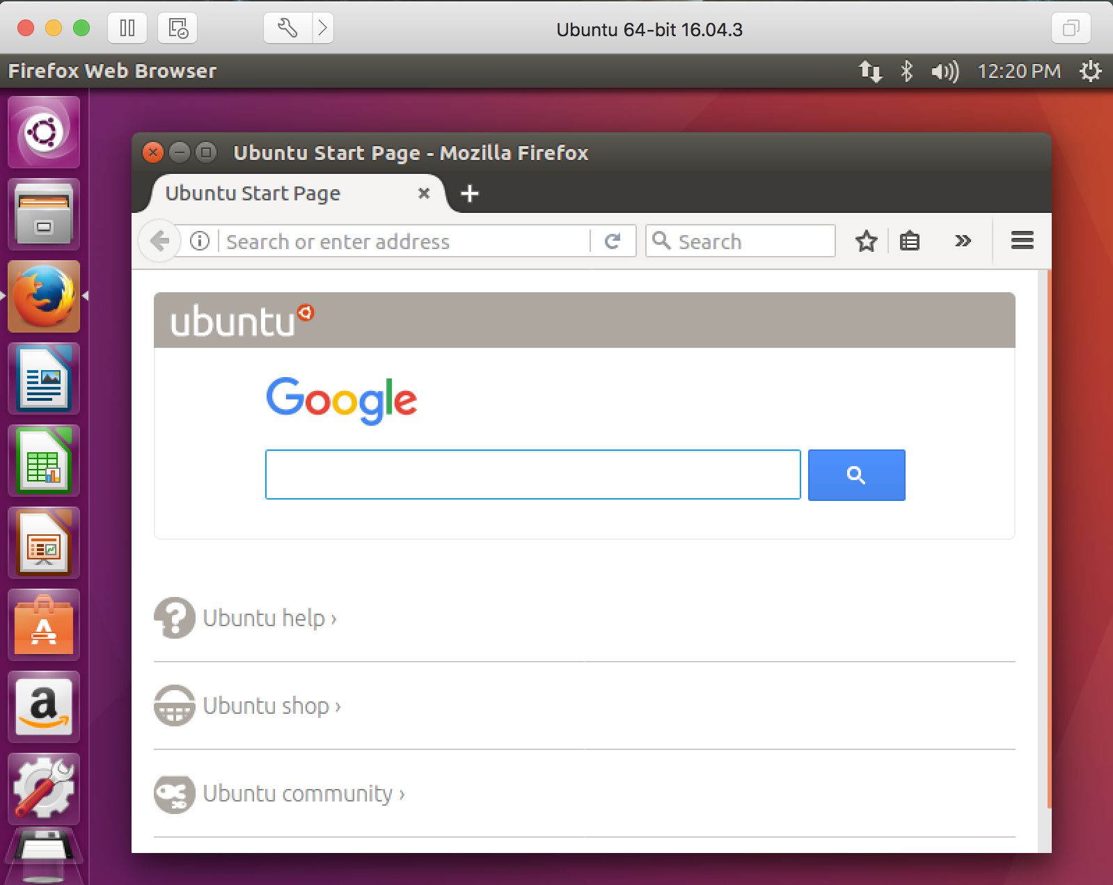 vmware fusion mac ubuntu linux
