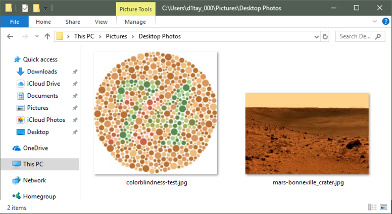 win10 images color blindness test