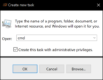 how to run elevated privileged commands, windows 10 win10
