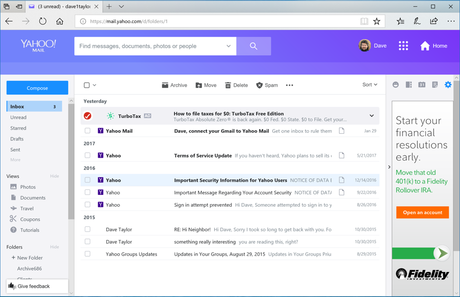 How can i change themes in yahoo mail ask dave taylor yahoo mail purple theme stopboris Image collections