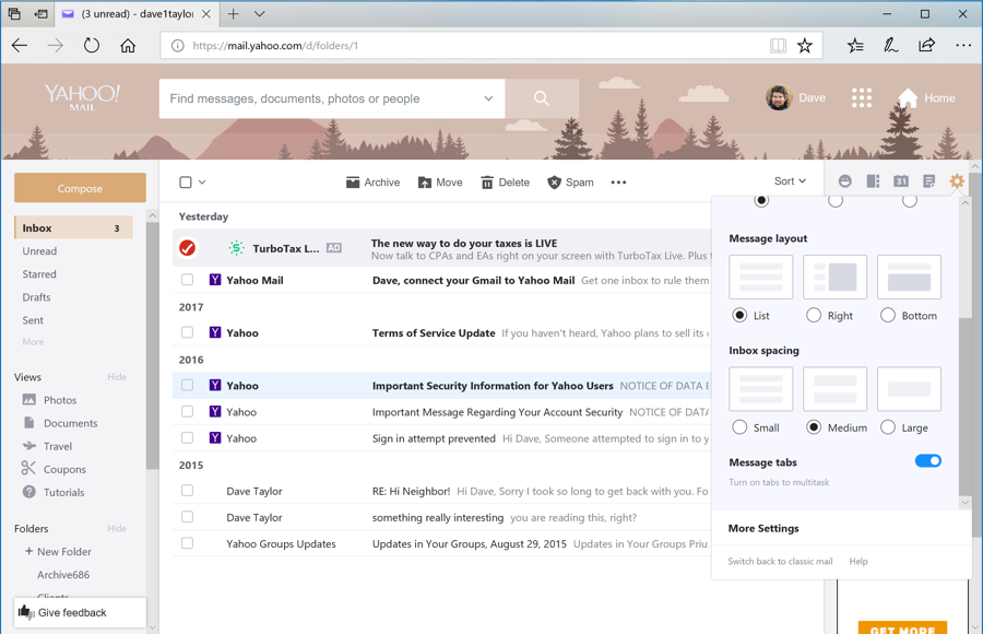 How can i change themes in yahoo mail ask dave taylor yahoo mail customize theme photo stopboris Images