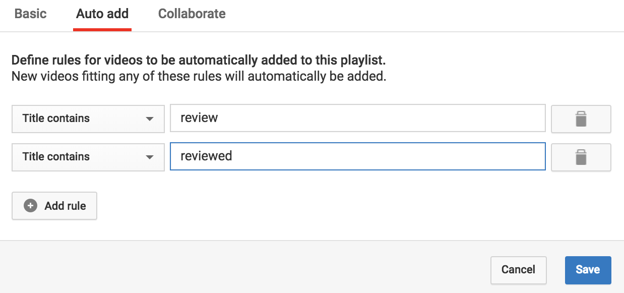 how do i create a new automatic playlist on youtube ask dave taylor