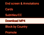 youtube download video mp4