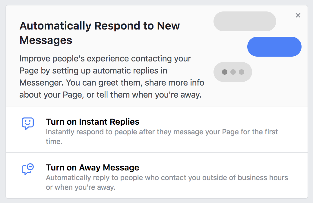 facebook business page autoresponse bot