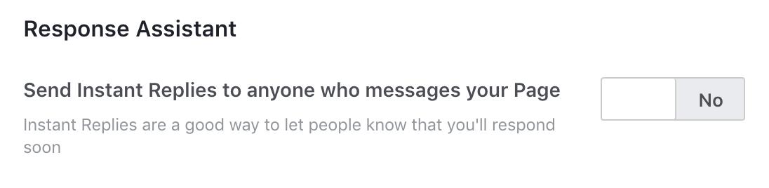 fb page settings > messaging settings 3
