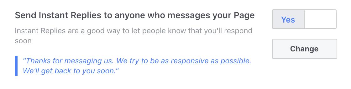 fb page settings > messaging settings 5