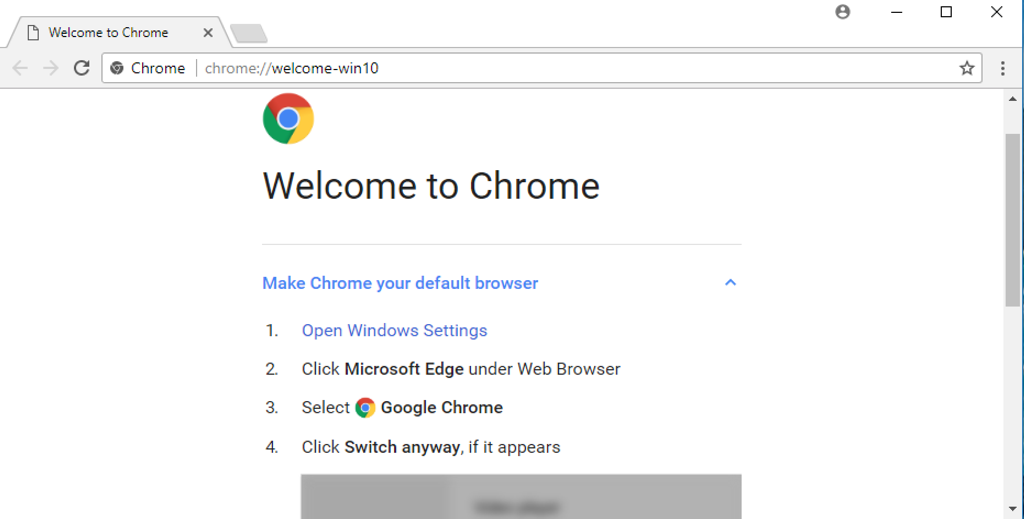 Change Default Win10 Web Browser to Google Chrome? - Ask