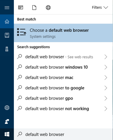 how to choose chrome as default browser