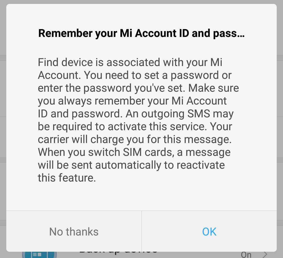 remember your mi account password