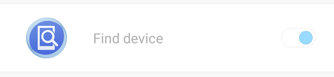 xiaomi find device feature enabled