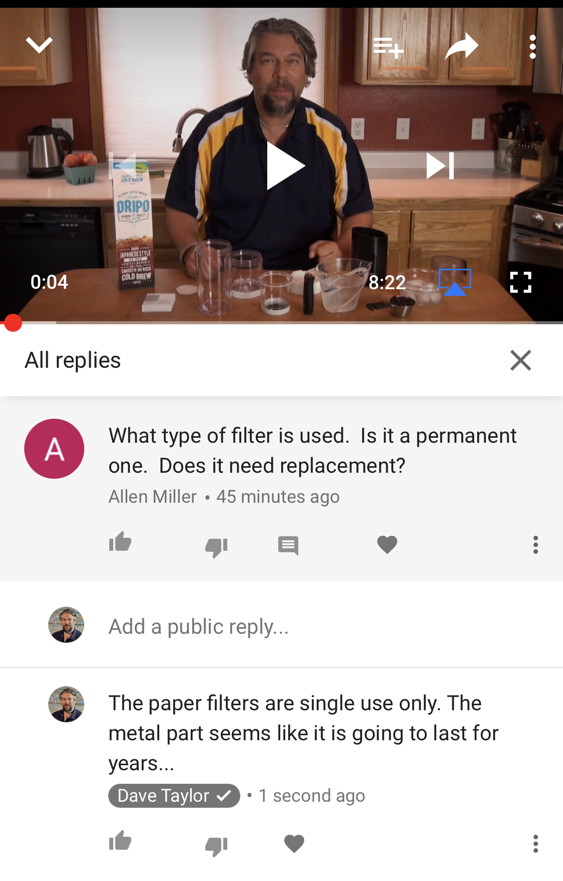 youtube comment posted iphone