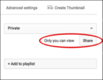 private password youtube video sharing