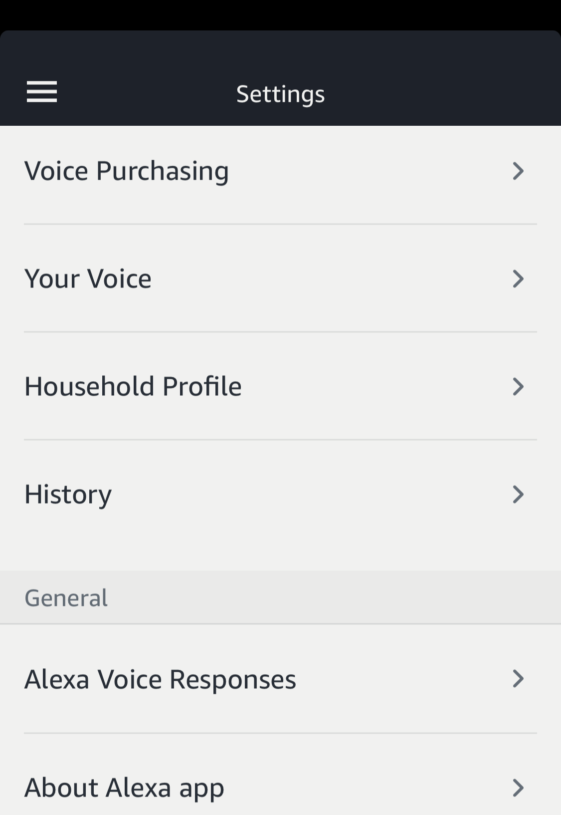 amazon echo alexa settings preferences options
