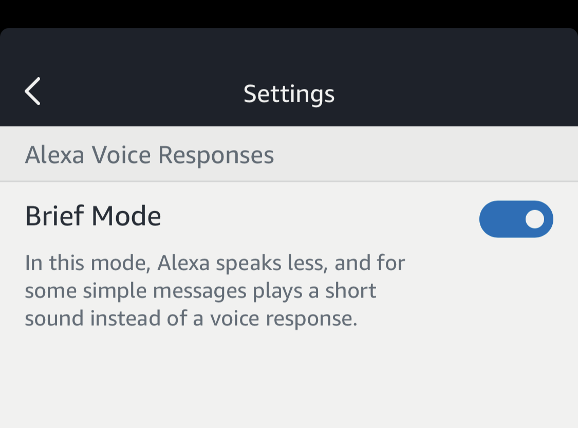 enable disable turn on off brief mode amazon echo alexa