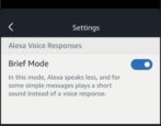 amazon echo alexa brief mode enable disable on off