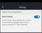 amazon echo alexa brief mode enable disable on off