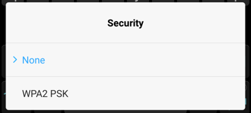android hotspot security options