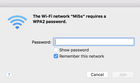 mac prompting for wifi password ssid android hotspot