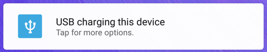 android usb connection prompt