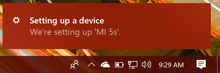 win10 setting up device