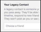 facebook death legacy contact settings
