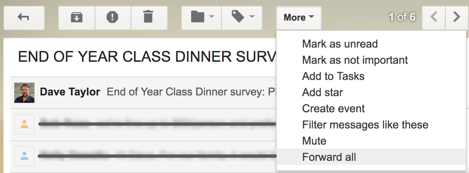 google mail gmail MORE menu