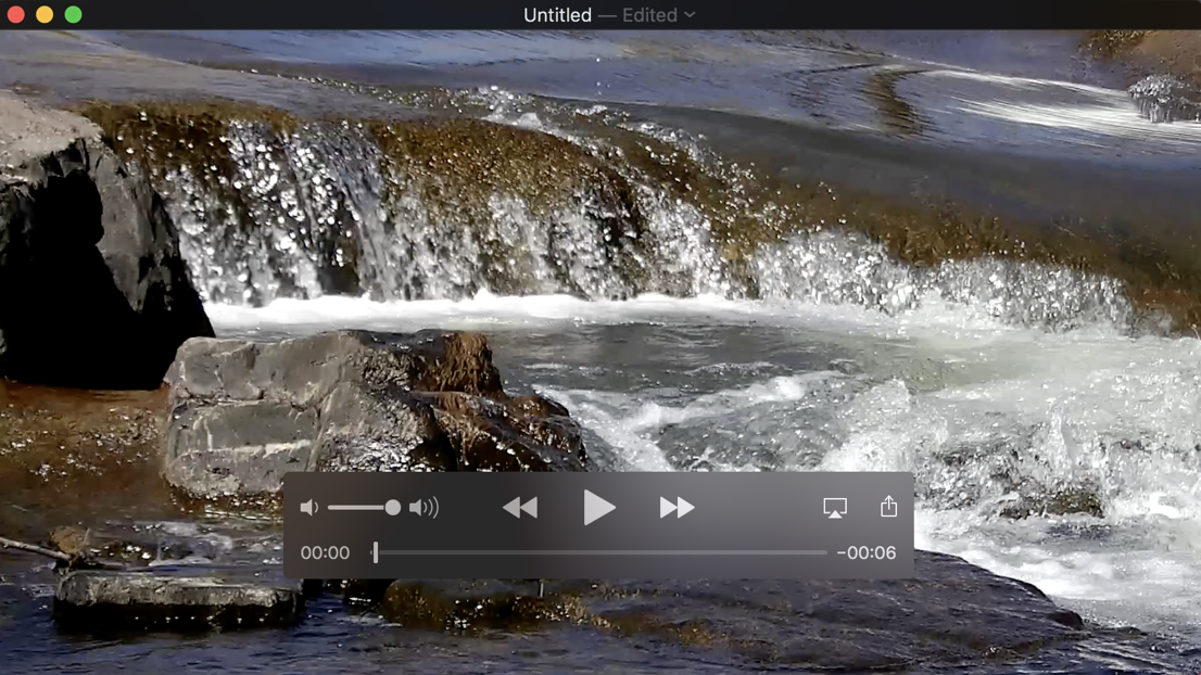 mac quicktime player trimmed edited video segment