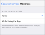 fix moviepass location service privacy iphone ios