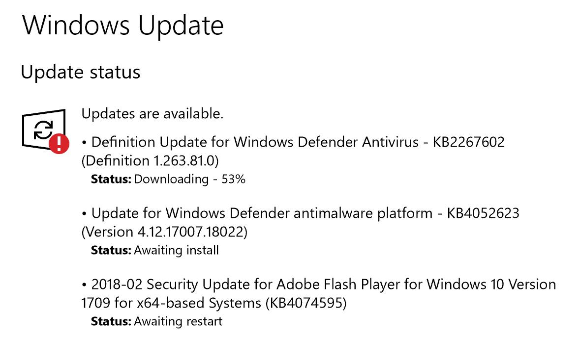 pending system updates, windows 10 win10