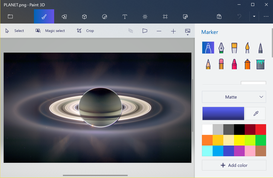 win10 big image opened paint 3d