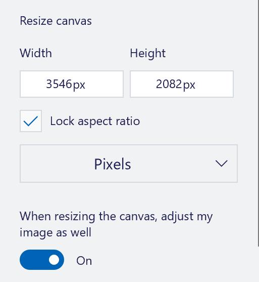 show image dimensions pixels paint 3d windows 10