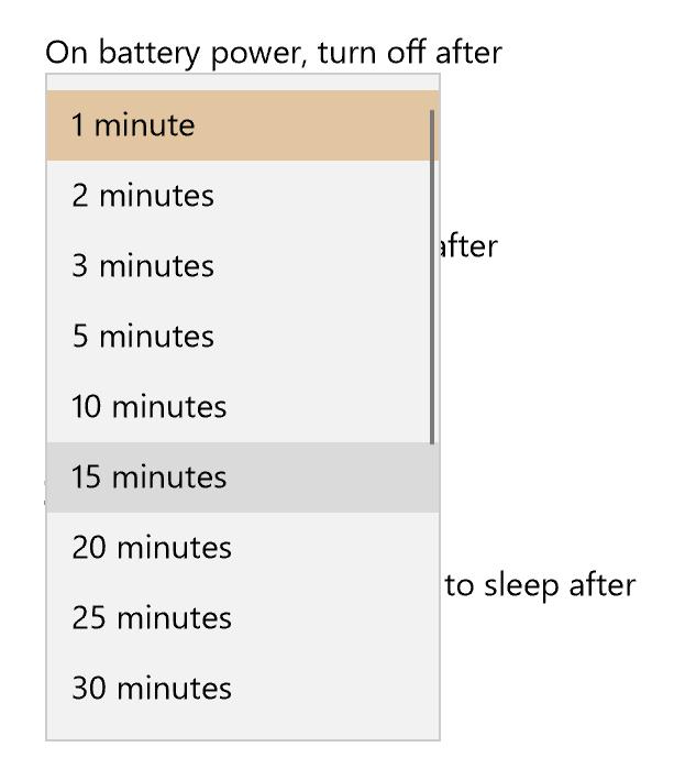 change win10 sleep settings