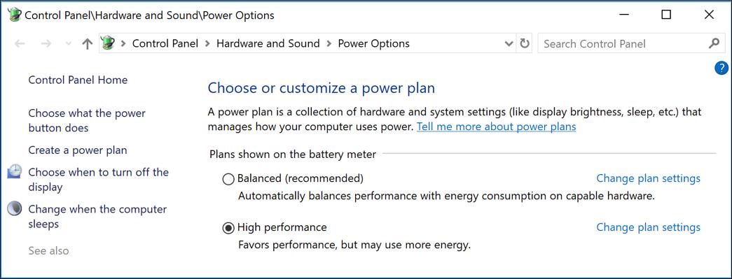 more power sleep management settings windows win10