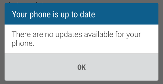android phone firmware os system up to date