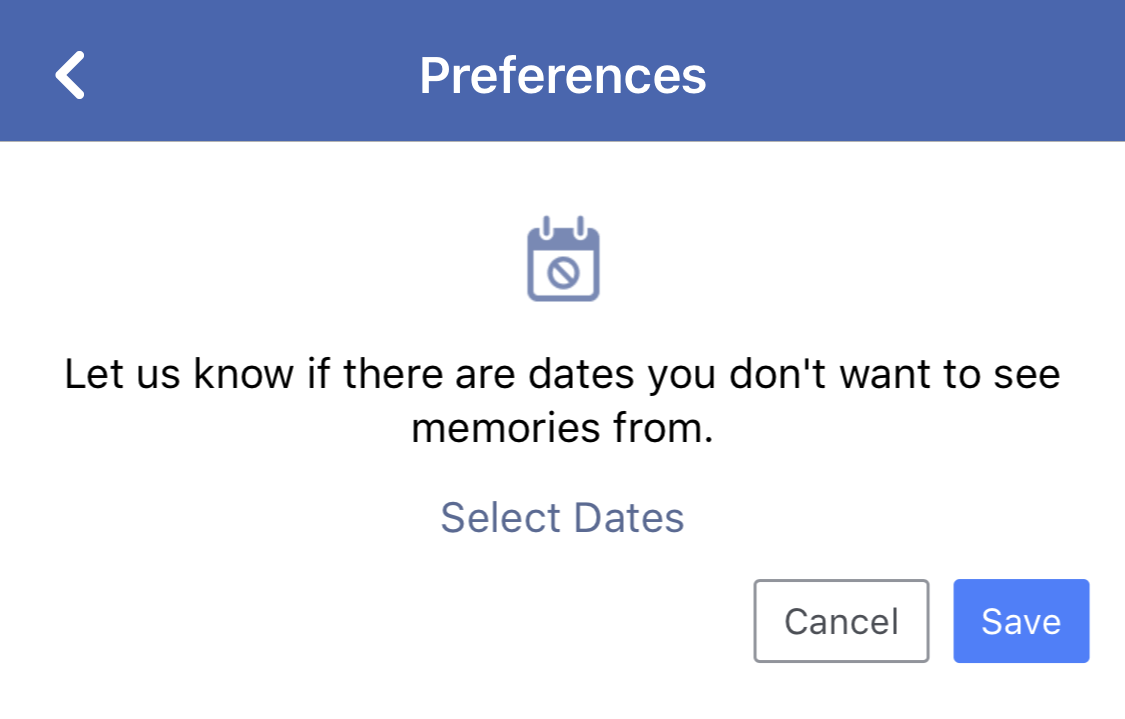 dates you don't want to see, facebook on this date