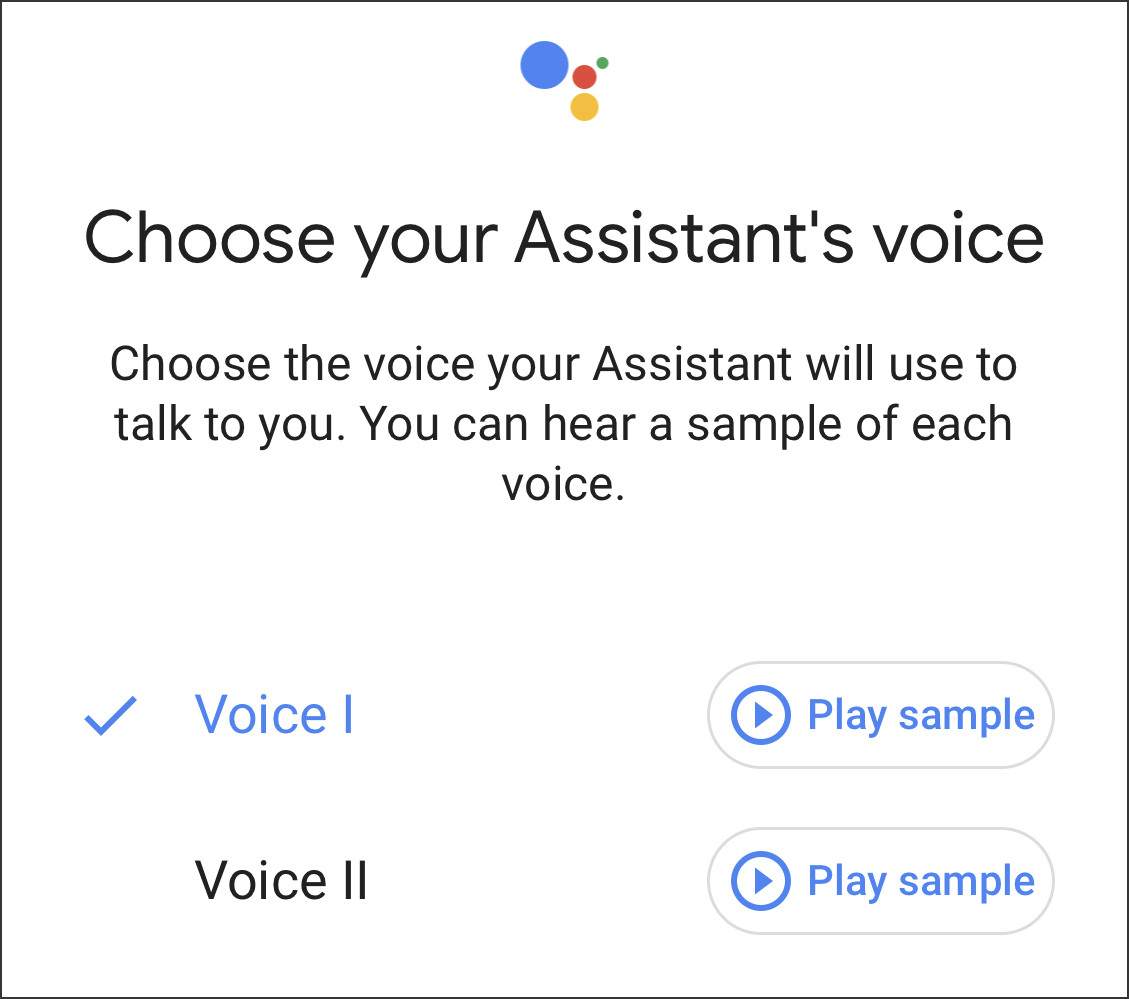 choose google assistant voice