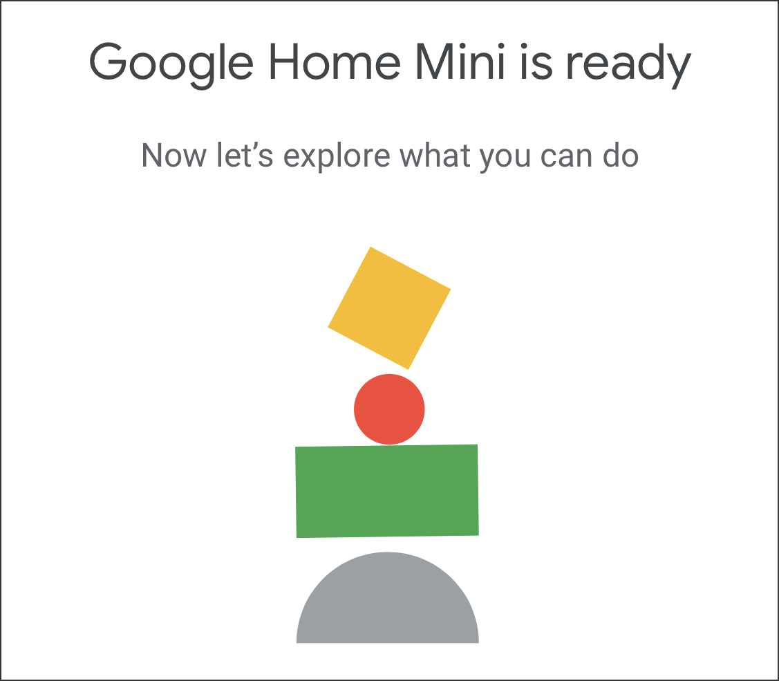google home mini ready and online