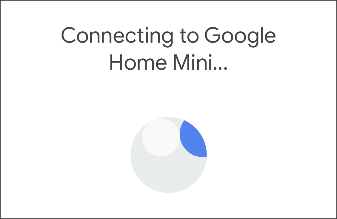 connecting to google home mini