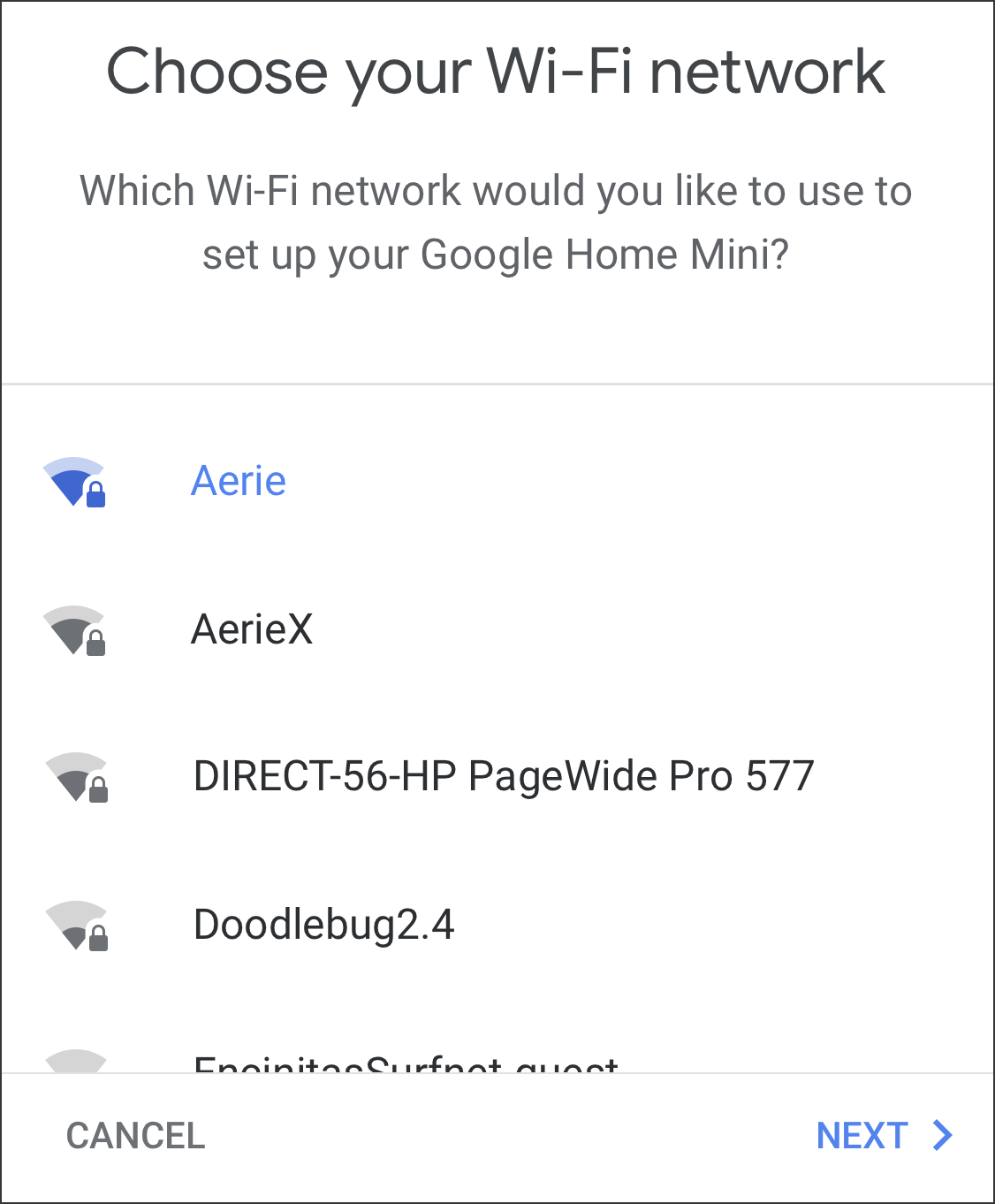 google home mini - connect to which wifi network