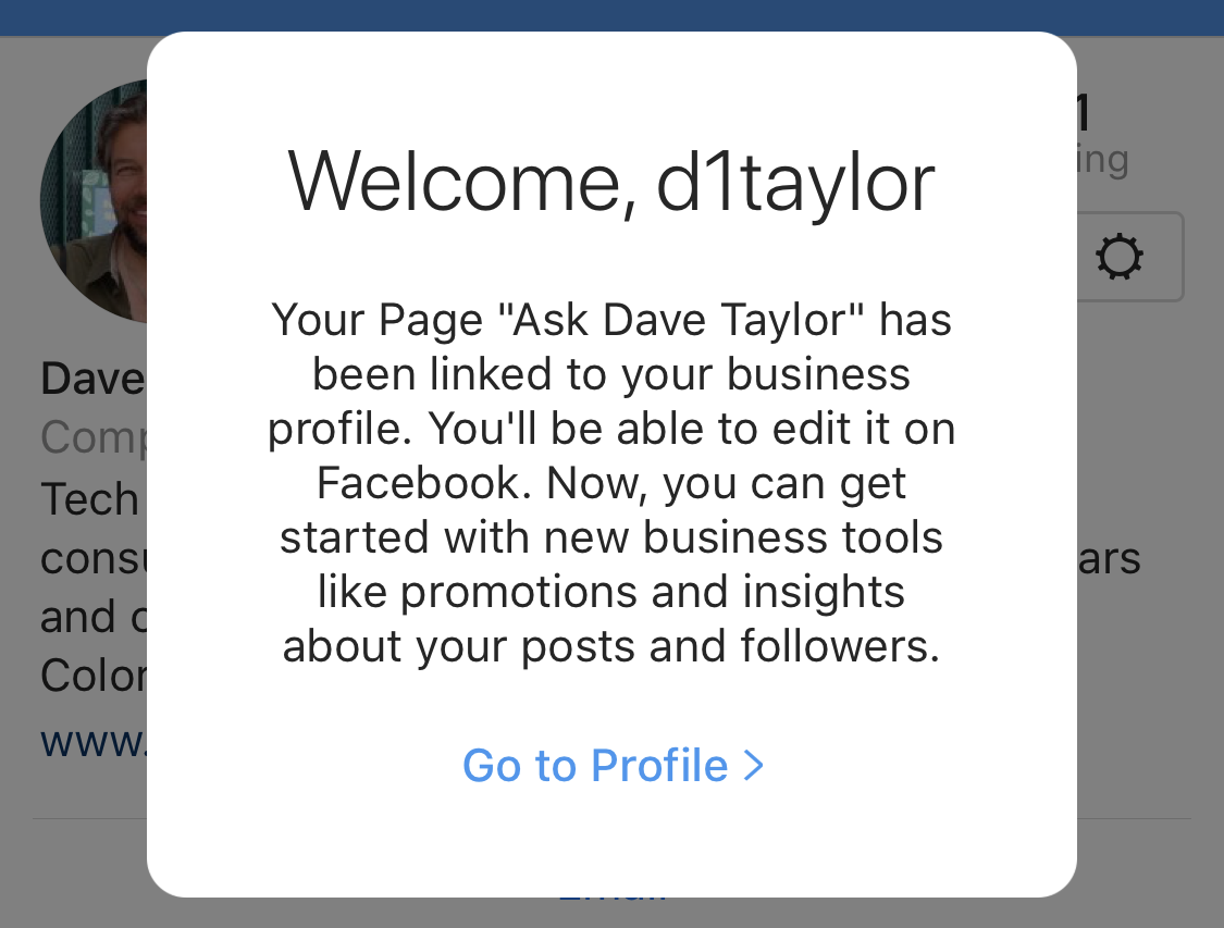welcome instagram ig business profile account