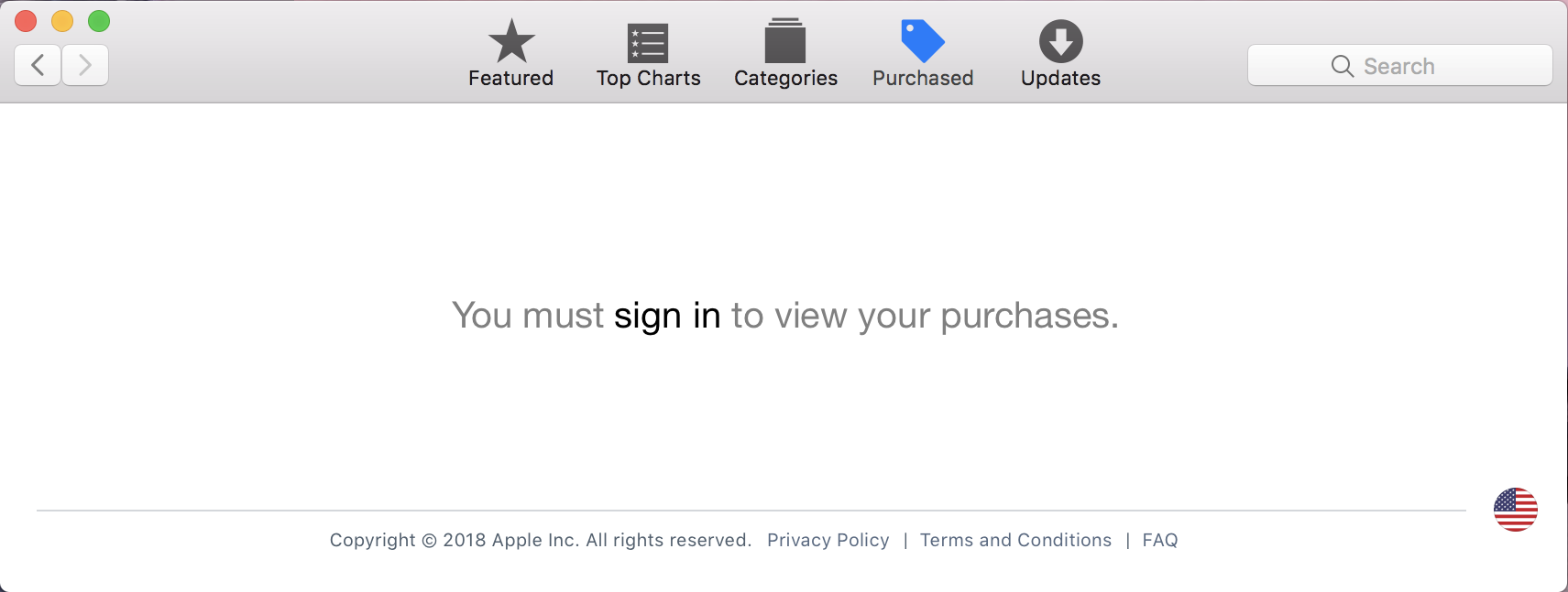 sign in to see your purchases - mac app store