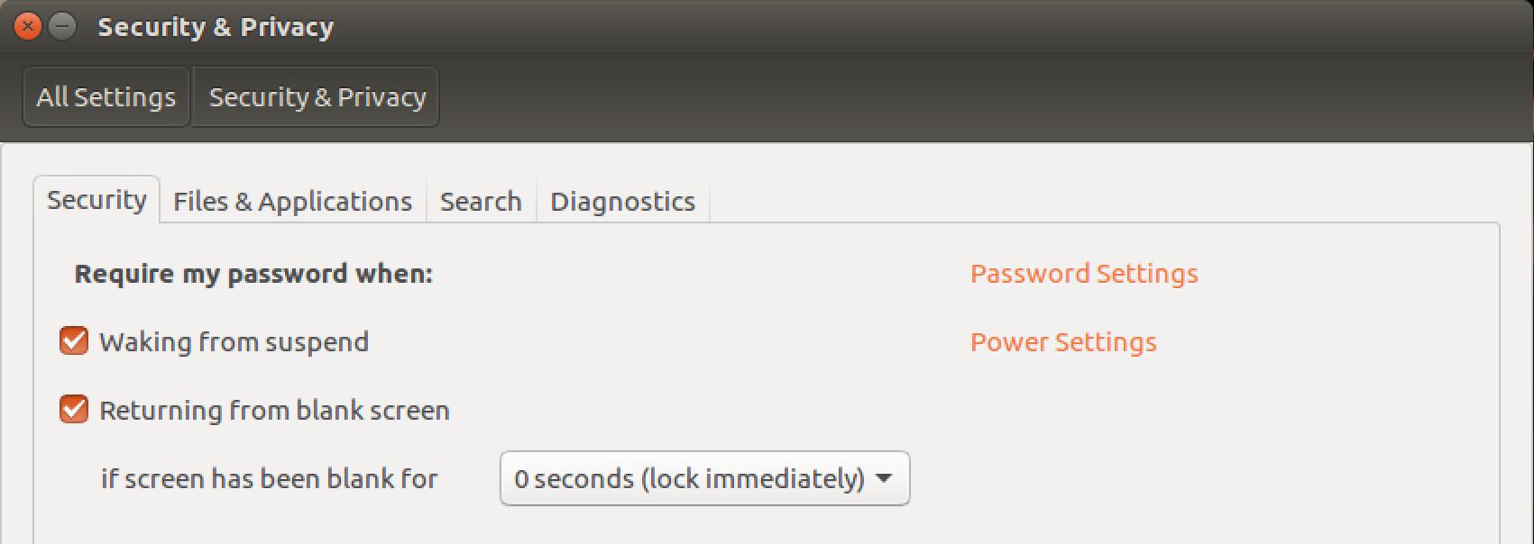 ubuntu linux system security settings