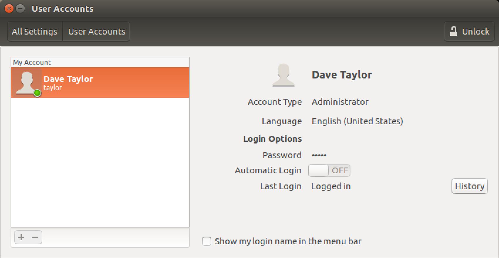 ubuntu linux password security settings