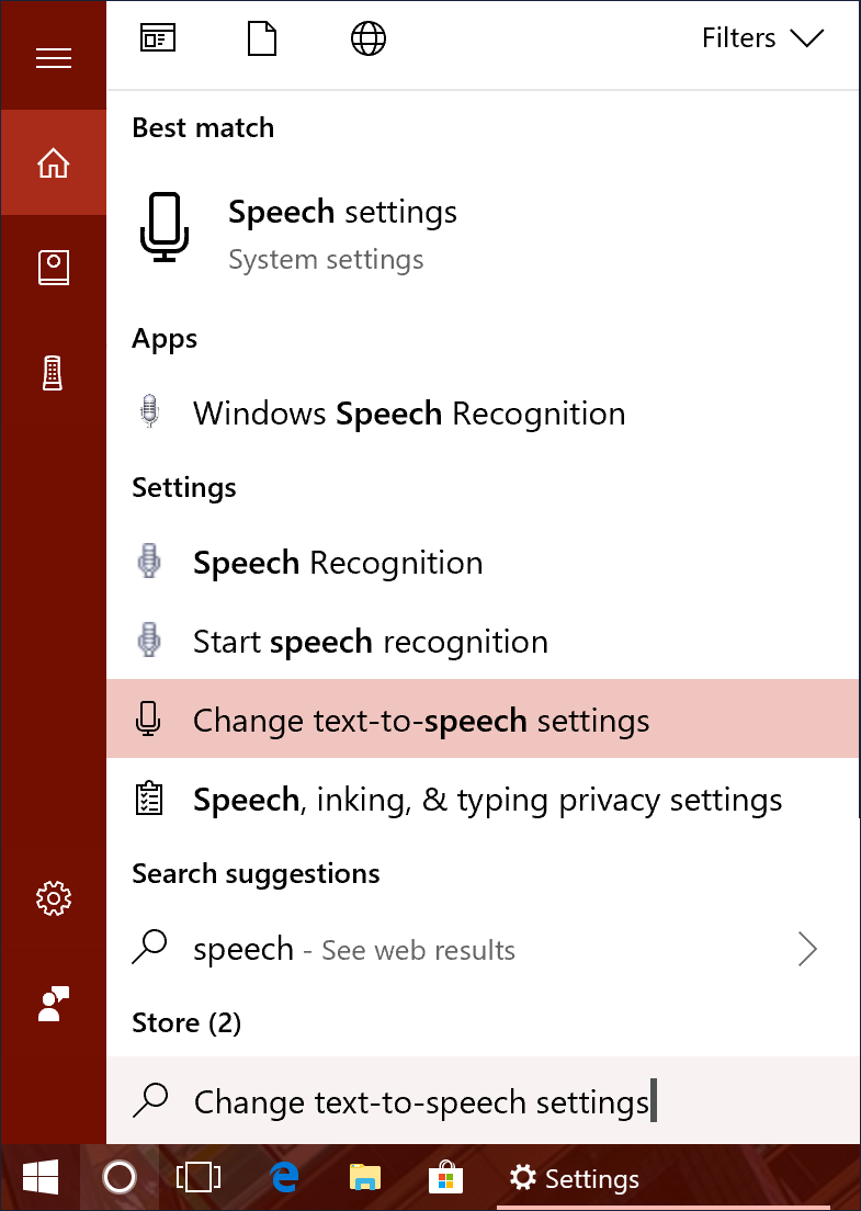 win10 cortana search text to speech dictation