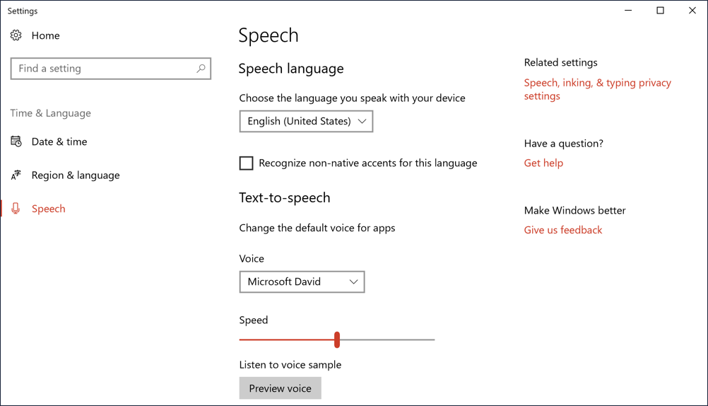 Enable Text-to-Speech Service in Win10? - Ask Dave Taylor