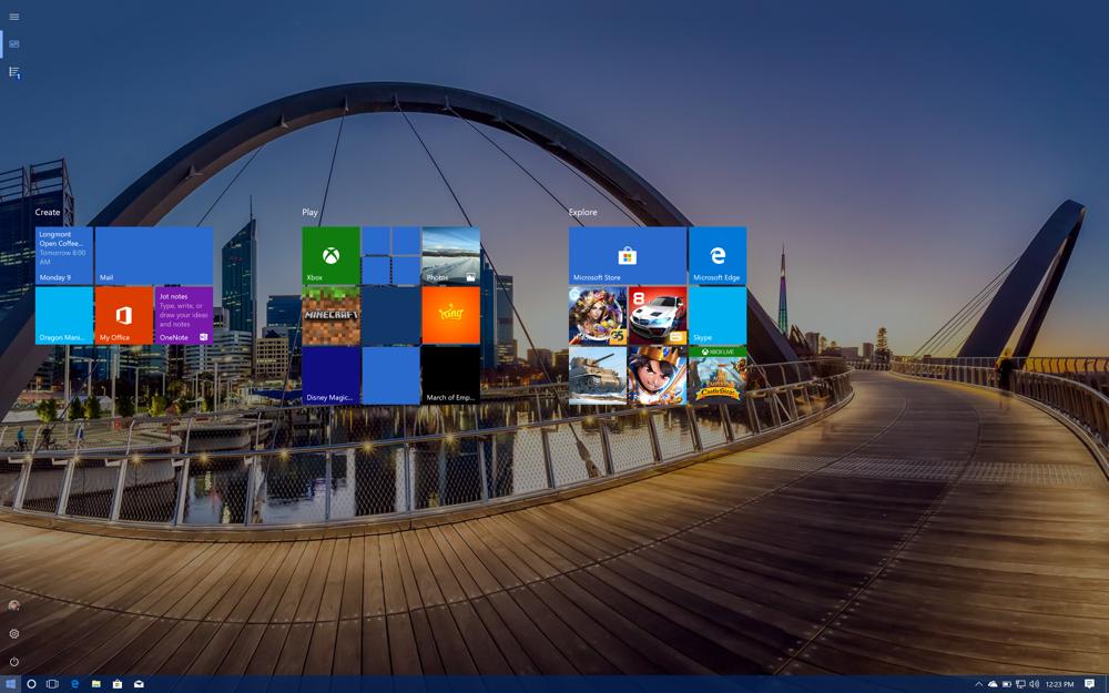 win10 windows full screen start tiles