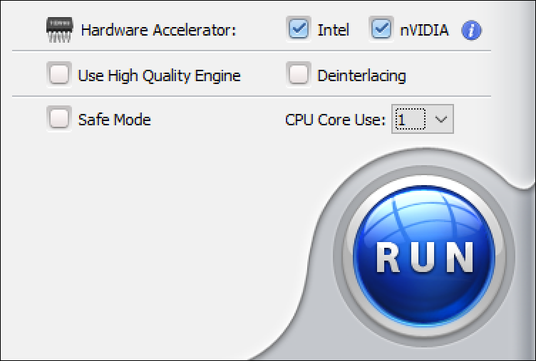 output dvd format - hardware acceleration